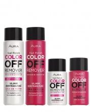 Aura Color Off лакочистител с подхранващи масла с ацетон