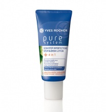 Yves Rocher Pure System Stop Blemish Lotion 4 in 1 грижа  за проблемна кожа