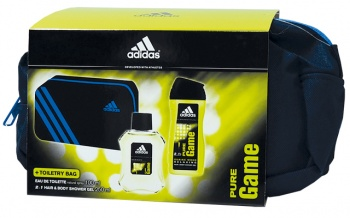 Adidas Pure Game EDT 100мл + душ гел 250мл + чанта