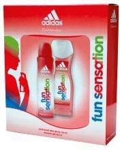 Adidas Fun Sensation душ гел 250мл  + дезодорант 150мл