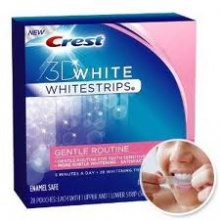 Crest 3D Whitestrips Gentle Routine лентички за избелване на зъбите