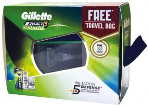 Gillette Mach 3 самобръсначка + гел за бръснене 75мл + балсам 50мл+ несесер