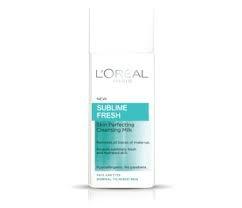 L`Oréal Sublime Fresh почистващо мляко за лице за нормална кожа