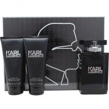 Karl Lagerfeld комплект за мъже EDT 100мл + афтършейф балсам 100мл + душ гел 100мл
