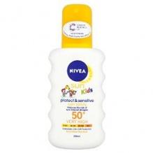 Nivea Sun Kids Pure and Sensitive Sun слънцезащитен спрей за деца SPF50