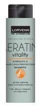 Lorvenn Keratin Vitality тонизиращ шампоан с кератин за слаба и тънка боядисана коса