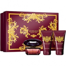 Versace Crystal Noir комплект за жени EDT 50мл + душ гел 50мл + лосион за тяло 50мл