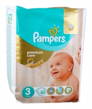 PAMPERS ПАМПЕРС PREMIUM CARE 5-9КГ/3-КА/