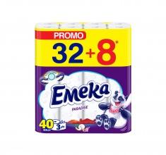 ЕМЕКА ТОАЛЕТНА ХАРТИЯ 32+8 ПАРАДАЙЗ
