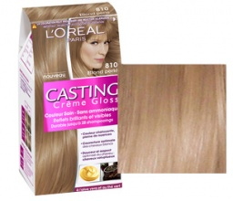 L'oreal Casting Creme Gloss боя за коса, Вариант: 810 перлено светло рус