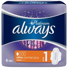 ALWAYS ДАМСКИ ПРЕВРЪЗКИ PLATINUM ULTRA NORMAL PLUS 8БР