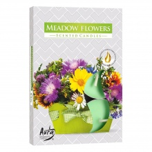 AURA FRAGRANCES CANDLES СВЕЩИ ЧАЕНИ MEADOW FLOWERS 6БР