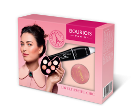BOURJOIS LOVELY PASTEL CHIC КОМПЛЕКТ ЗА ЖЕНИ СПИРАЛА TWIST UP + РУЖ LITTLE ROUND POD 95