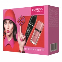 BOURJOIS FROM PARIS WITH KISS КОМПЛЕКТ ЗА ЖЕНИ СПИРАЛА ЗА ОЧИ TWIST UP + ЧЕРВИЛО ЗА УСТНИ ROUGE EDITION VELVET 10