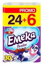 EMEKA ТОАЛЕТНА ХАРТИЯ PARADISE 24+6БР