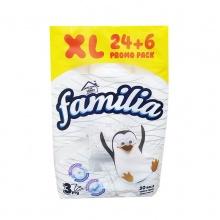 FAMILIA ТОАЛЕТНА ХАРТИЯ 24+6 БЯЛА