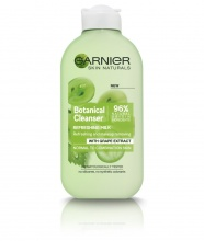 GARNIER ТОАЛЕТНО МЛЯКО REFRESHING BOTANICAL CLEANSING MILK WITH GRAPE EXTRACT НОРМАЛНА КЪМ СМЕСЕНА КОЖА 200МЛ