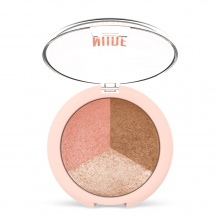 GOLDEN ROSE NUDE LOOK ПУДРА ЗА ЛИЦЕ TRIO 19.5ГР
