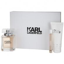 Karl Lagerfeld дамски комплект EDP 85мл + лосион за тяло 100мл + рол-он парфюм 10мл