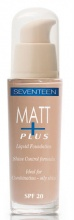 SEVENTEEN ФОН ДЬО ТЕН MATT PLUS LIQUID FOUNDATION МАТИРАЩ 30МЛ