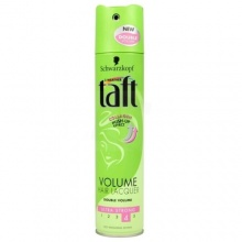 TAFT ЛАК ЗА КОСА VOLUME MOUSSE ULTRA STRONG 4 ЗА ОБЕМ 250МЛ