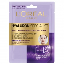 L'OREAL МАСКА ЗА ЛИЦЕ HYALURON SPECIALIST ХАРТИЕНА 30МЛ