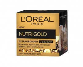 L'OREAL КРЕМ ЗА ЛИЦЕ NUTRI GOLD EXTRAORDINARY OIL-CREAM 50МЛ