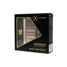 MAX FACTOR КОМПЛЕКТ СЕНКИ MASTERPIECE NUDE 01 + СПИРАЛА FALSE LASH BLACK