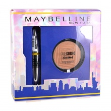 MAYBELLINE КОМПЛЕКТ COLOSSAL PALTINUM+MASTER CHROME ХАЙЛАЙТЪР
