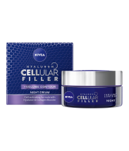 NIVEA КРЕМ ЗА ЛИЦЕ CELLULAR HYALURON FILLER + VOLUME НОЩЕН 50МЛ