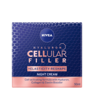 NIVEA КРЕМ CELLULAR HYALURON FILLER+ ELASTICITY NIGHT CREAM НОЩЕН 50МЛ