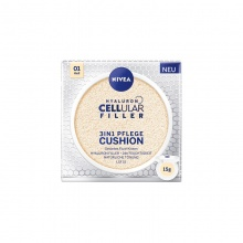 NIVEA ПУДРА ЗА ЛИЦЕ CELLULAR HYALURON FILLER 3IN1 CUSHION СВЕТЪЛ ТОН 15ГР