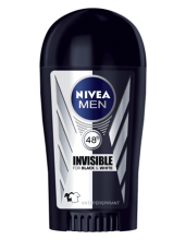 NIVEA ДЕО СТИК MEN INVISIBLE FOR BLACK & WHITE POWER ЗА МЪЖЕ 40МЛ