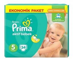 PAMPERS ПАМПЕРСИ PRIMA JUMBO 11-18КГ /5-ЦА/ 34БР