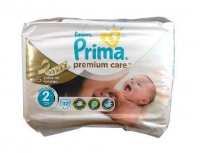 PAMPERS ПАМПЕРСИ PRIMA PREMIUM CARE 3-6КГ /2-КА/ 32БР