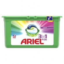 ARIEL ПРАХ ЗА ПРАНЕ КАПСУЛИ 3 IN 1 PODS COLOR 42БР