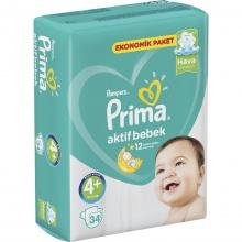 PAMPERS ПАМПЕРСИ PRIMA JUMBO 9-16КГ /4-КА/ 34БР