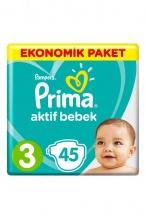PRIMA ПАМПЕРС ACTIVE 5-9КГ 3-КА 45БР