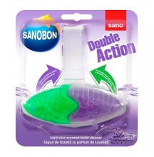 SANOBON WC АРОМАТИЗАТОР ЗА ТОАЛЕТНА DOUBLE ACTION LAVENDER SCENTED 55ГР