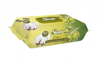 SLEEPY МОКРИ КЪРПИ OLIVE OIL&COTTON WET WIPES 90БР