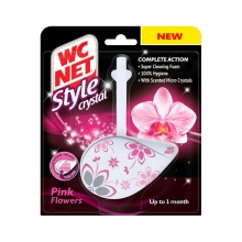 WC NET БЛОК STYLE CRYSTAL PINK FLOWERS 36.5ГР
