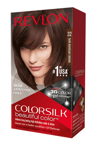 Revlon ColorSilk боя за коса REVLON БОЯ ЗА КОСА COLORSILK 032 DARK MAHOGANY BROWN