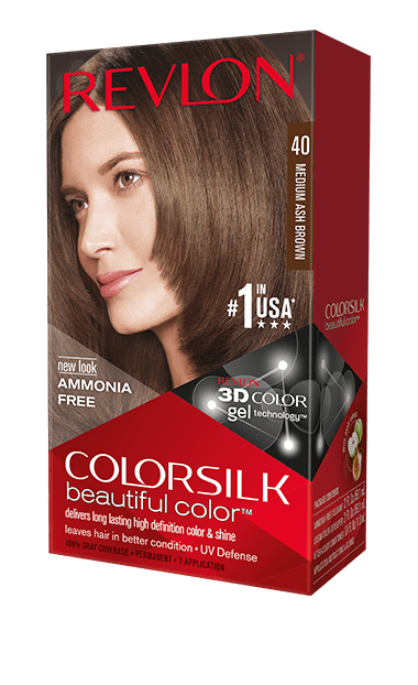 Revlon ColorSilk боя за коса REVLON БОЯ ЗА КОСА COLORSILK 040 MEDIUM ASH BROWN