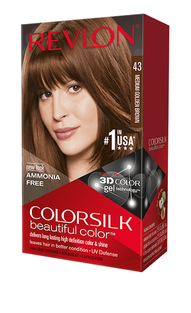 Revlon ColorSilk боя за коса REVLON БОЯ ЗА КОСА COLORSILK 043 MEDIUM GOLDEN BROWN