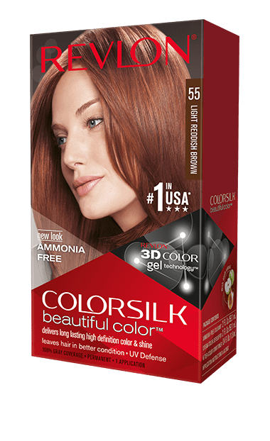 Revlon ColorSilk боя за коса REVLON БОЯ ЗА КОСА COLORSILK 055 LIGHT REDDISH BROWN