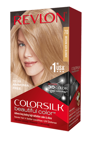 Revlon ColorSilk боя за коса REVLON БОЯ ЗА КОСА COLORSILK 070 MEDIUM ASH BLONDE