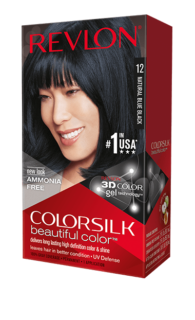 Revlon ColorSilk боя за коса REVLON БОЯ ЗА КОСА COLORSILK 12 NATURAL BLUE BLACK