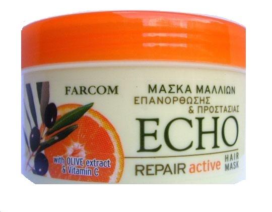 Echo възтановяваща маска за суха и изтощена коса FARCOM ECHO ВЪЗСТАНОВЯВАЩА МАСКА ЗА СУХА И ИЗТОЩЕНА КОСА 500МЛ