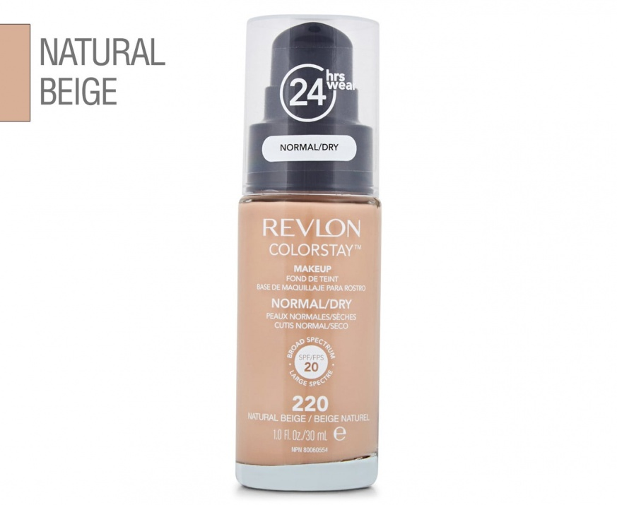 Revlon ColorStay Dry & Normal фон дьо тен за нормална и суха кожа 30мл Revlon ColorStay Dry & Normal фон дьо тен за нормална и суха кожа 30мл, Вариант: 220 Natural Beige