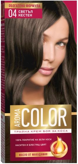 AROMA COLOR БОЯ ЗА КОСА 45МЛ AROMA COLOR БОЯ ЗА КОСА 04